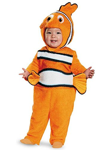 Disney Finding Nemo Deluxe Kids Costumes - Disguise Baby's Nemo Prestige Infant Costume, Orange, 12-18