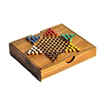Chinese Checkers , Wooden Game , Wooden board game , by SiamCollection
