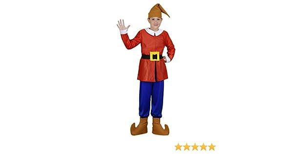 Disfraz de Enanito Rojo Infantil (10-12 años): Amazon.es: Juguetes ...