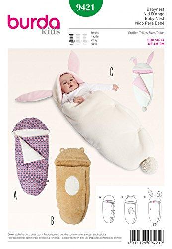 Burda Baby fácil de patrón de costura para 9421 - saco de dormir