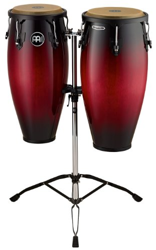 Meinl Percussion HC888WRB Headliner Series 10-Inch and 11-Inch Conga Set With Tripod Stand, Wine Red Burst