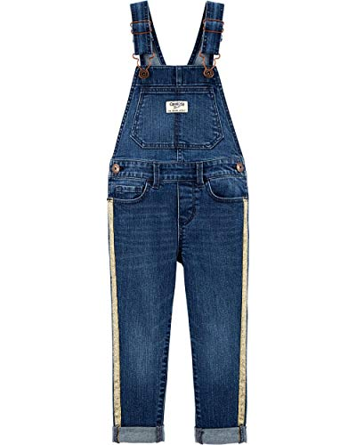 OshKosh B'Gosh Girls' Toddler World's Best Overalls, Gold Stripe, - Pant Girls Stripe