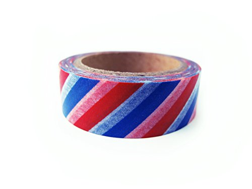 Whimsy Stripes - Washi Paper Tape Masking Tape Decorative Tape Planner Accessory (Americana Stripe)