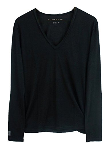 Eleven Paris Herren Langarmshirt schwarz schwarz