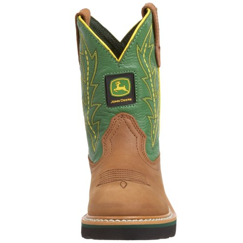 John Deere 2186 Western Boot (Toddler/Little Kid),Tan/Green,12 M US Little Kid