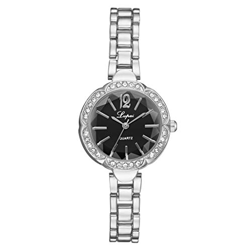 LUCAMORE Women's Watches Bracelet Diamond Round Small Dial Watch Ladies Fashion Dress Watches Wrist Watches for Women