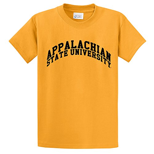 (NCAA Appalachian State Mountaineers Adult Short Sleeve Tee (Tall), Large/Tall, Gold )