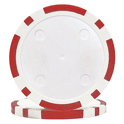 Da Vinci 100 11.5 Gram Blank 8 Stripe Poker Chips Use Custom Labels (Red) ()