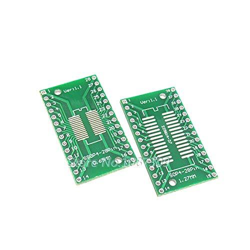 10PCS TSSOP28 SSOP28 SOP28 to DIP28 Transfer Board DIP Pin Board Pitch Adapter TSSOP-28 SSOP-28 SOP-28 to DIP-28