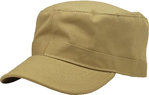 KBK-1464 KHK L Cadet Army Cap Basic Everyday Military Style Hat
