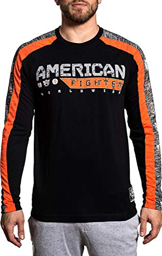 American Fighter Coatesville Long Sleeve Athletic Graphic Fashion Sport T-shirt Top by Affliction