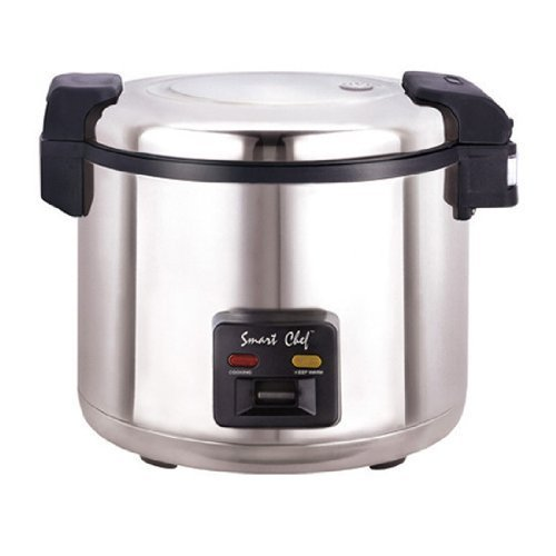 Smart Chef 33 Cups Electronic Rice Cooker 304S/S Body with 2mm Extra Heavy Duty Nonstick Inner Pot. WRC-1070S. ETL & UL Approved