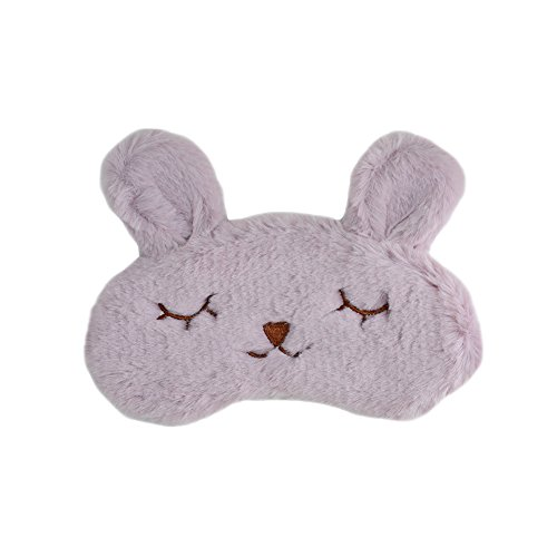 Funbase Funny Rabbit Women Sleep Eye Mask Contoured Travel Blindfold (No Icebag) (Purple)