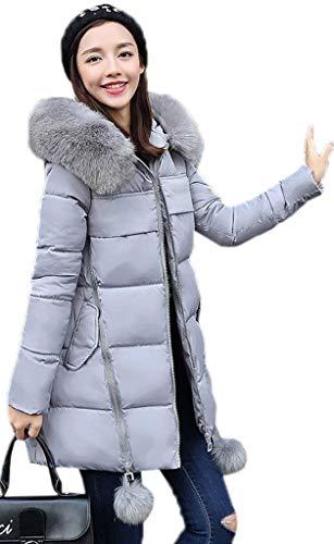 Wnzvz Hiver Capuchon Femme Fourrure Doudoune Avec Manteau Chaud A4Wa0c56