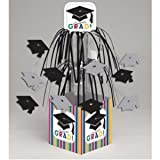 Creative Converting Graduation Stripes Cascade Centerpiece with Base, Mini