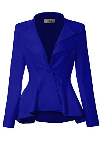 Women Double Notch Lapel Office Blazer JK43864 1073T