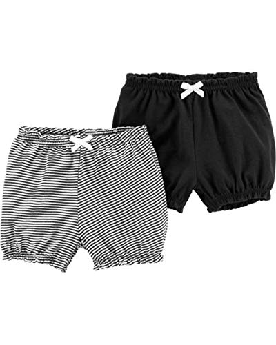 Carter's Baby Girls' 2-Pack Bubble Shorts (Black, 12 Months)]()
