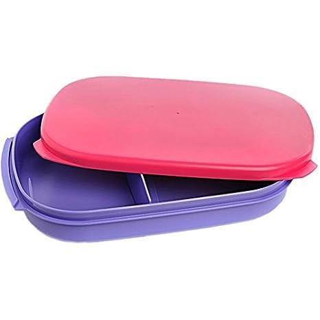 Tupperware Kompact Plastic Lunch Box, 600ml, Multicolour Lunch Boxes at amazon