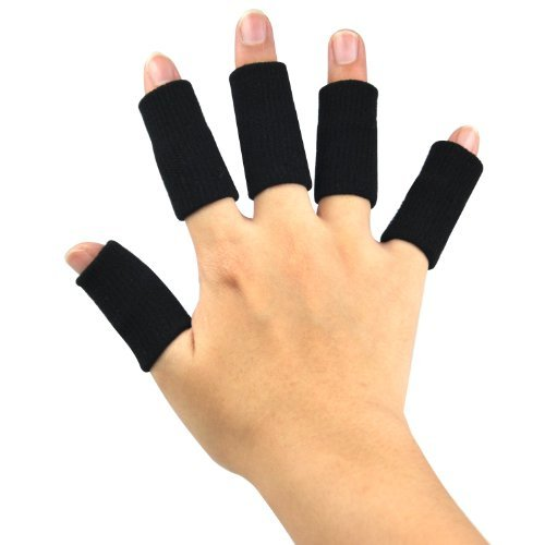 (Stretchy Finger Protector Sleeve, Arthritis Support Sports Aid x10 by AUCHEN )