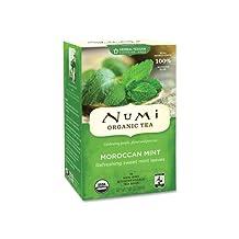 Pack of 1 x Numi Tea Moroccan Mint - Caffeine Free - 18 Bags