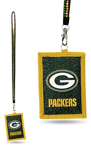 Rico Green Bay Packers Beaded Lanyard Wallet ()