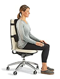OPTP Thoracic Lumbar Back Support - Seating Cushion for Car Seats, Desk Chairs, Airplanes, Stadiums & Theaters Providing Complete Sitting Support