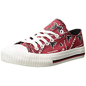 FOCO NFL Womens NFL Low Top Repeat Print Canvas Shoes