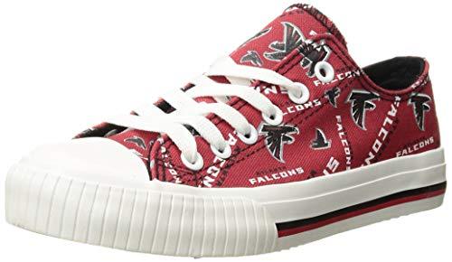 FOCO NFL Womens Low Top Repeat Print Canvas Shoe: Atlanta Falcons, Large
