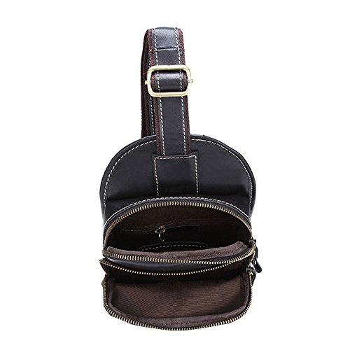 Othilar Herren schwarz klein Leder Tasche Brusttasche Schultertasche Rucksack