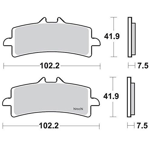 ブレーキング BRAKING ブレーキパッド フロント 07年-13年 ドゥカティ 1198、1199 (CM66 セミメタル) 1721-0770 930CM66   B01M8GK9IB