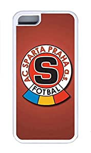 5C Case, iPhone 5C Case Cover, Custom Design Soft Rubber TPU White Cases Ac Sparta Praha Shoockproof Protective Case Cover for New Apple iPhone 5C