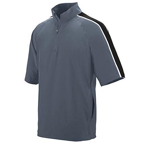 Augusta Sportswear Men's Augusta Quantum Short Sleeve Pullover, Graphite/Black/White, XX-Large ()