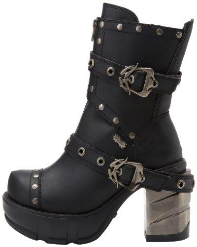 Demonia Steampunk Ankle Boots Sinister-201 Schwarz