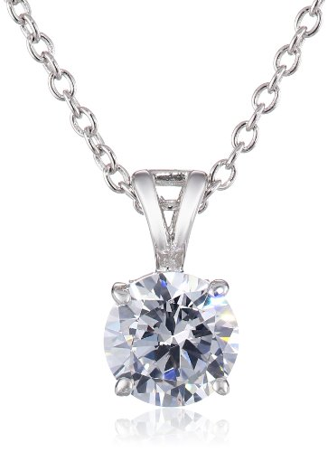 charles winston sterling silver cubic zirconia pendant