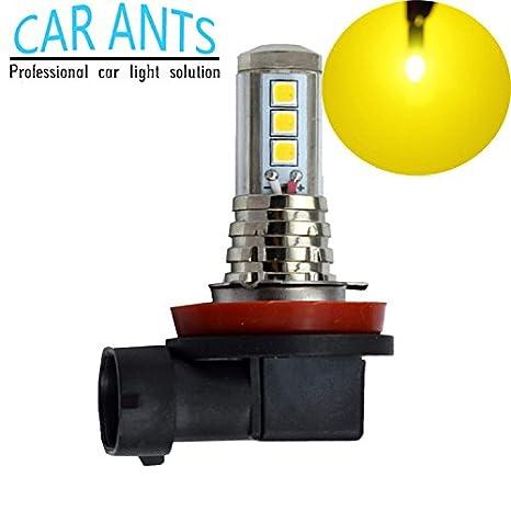 Bombillas de luz antiniebla LED de 30 W, 1400 lm, color amarillo dorado (