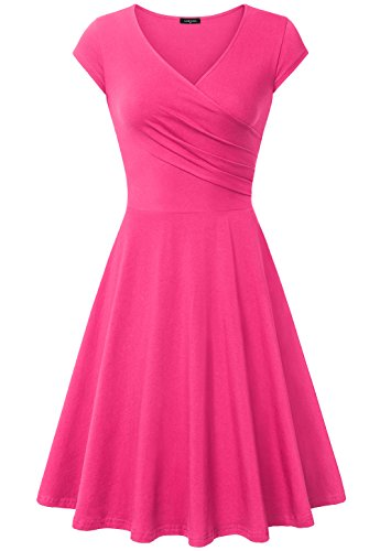 Laksmi Bridesmaid Dress Short, V Neck Urban Retro Curve Bridesmaid Gown,XX-Large Light Rose