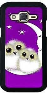 Funda para Samsung Galaxy J5 - Búhos Nevados Difusos En La Luna by Blingiton