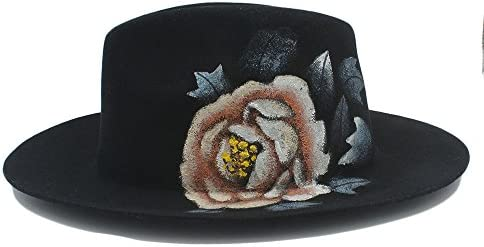 GHC Gorras y Sombreros para Mujer 100% Lana Flores pintadas a Mano ...