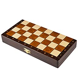 Magnetic Wooden Portable Chess Game Set - 11\