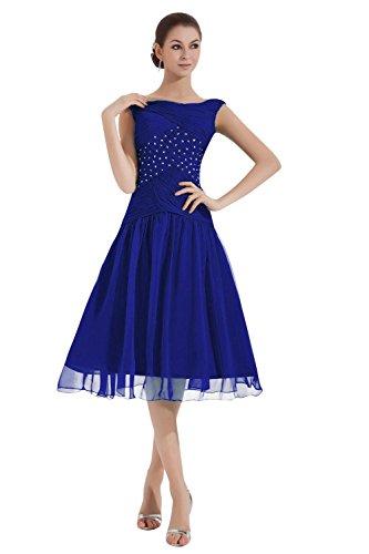Dora Les Femmes De Mariée Et Aiguë, De Longueur De Thé Ruché Mère Des Robes De Mariée Bleu Royal