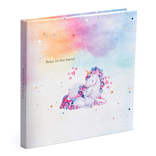 - Pillow and Toast Baby Memory Book - Baby Registry Must Haves - Baby Shower Gift - Unicorn Baby Journals First Year and Memory Books, Unicorns Photo Album