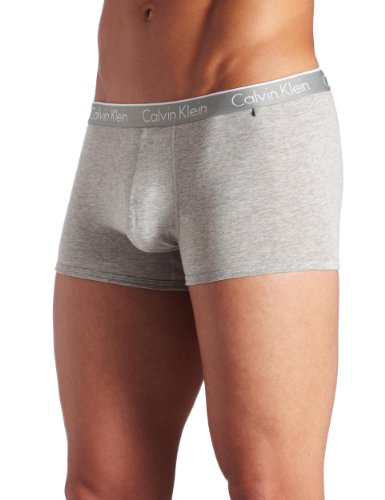 ck one Men's Cotton Stretch Trunk, Grey Heather, Large (Ck Online Shop)