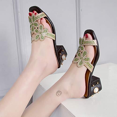 Rouge Flops Pas De Chaussons Femme Sandale Escarpins Flip Ete Claquette Slippers Plage Cher Magiyard Chaussure OqYSx6