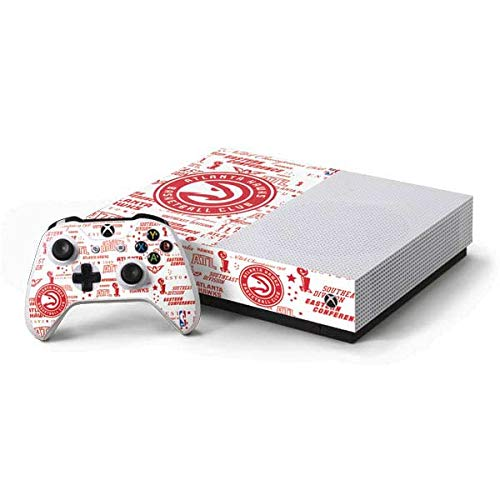 Skinit Atlanta Hawks Xbox One S All-Digital Edition Bundle Skin - Officially Licensed NBA Gaming Decal - Ultra Thin, Lightweight Vinyl Decal Protection