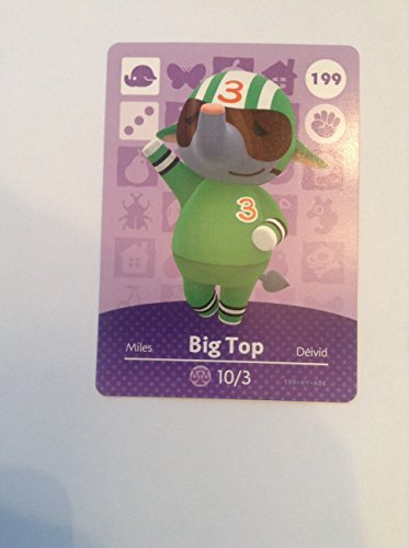 Nintendo Animal Crossing Happy Home Designer Amiibo Card Big Top 199/200 USA Version
