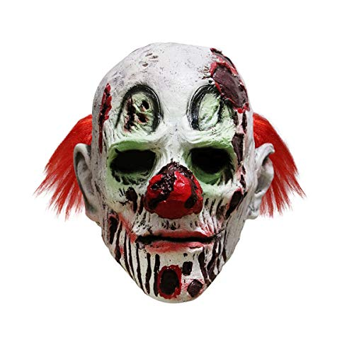 Halloween Scary Evil Clown Mask Zombie Horror Face Joker Costume ()