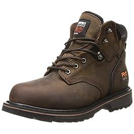 Timberland PRO Men's Pitboss 6″ Steel-Toe Boot, Brown , 7 D – Medium