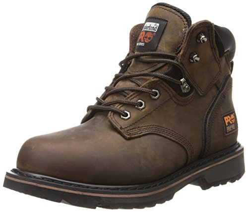 "Timberland PRO Men's Pitboss 6"" Steel-Toe Boot, Brown , 9.5 D - Medium"