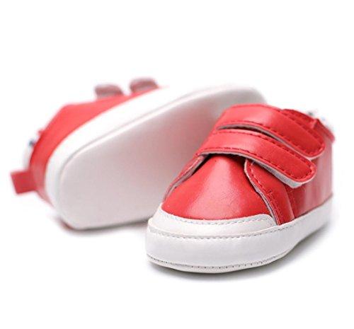 BZLine® Baby Krippe Schuhe Splice weiche Sohle Anti-Slip Sneakers Rot
