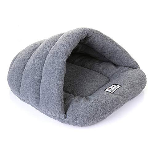 Soft Pet Mat Winter Warm Nest Pet Cat Small Dog Puppy Kennel Bed Sofa Sleeping Bag House,Gray,L